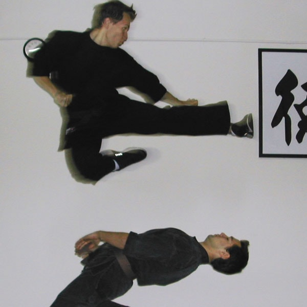 Mr. Mike Genchev martial arts flying side kick